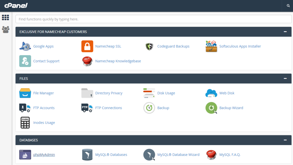 CPanel WordPress Website.
