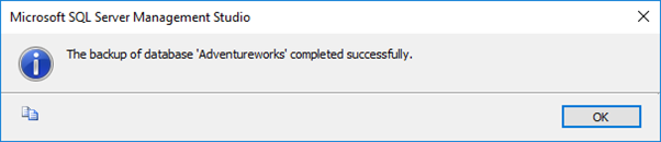 SQL Server Backup Successful