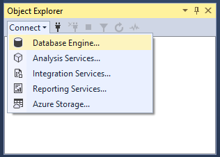 SSMS Connect to a Database