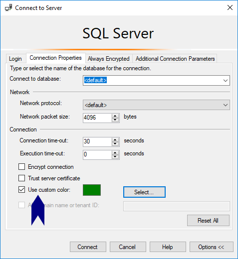 Change Connection Colours SSMS