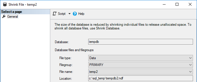 Shrink TempDB Files in SQL Server