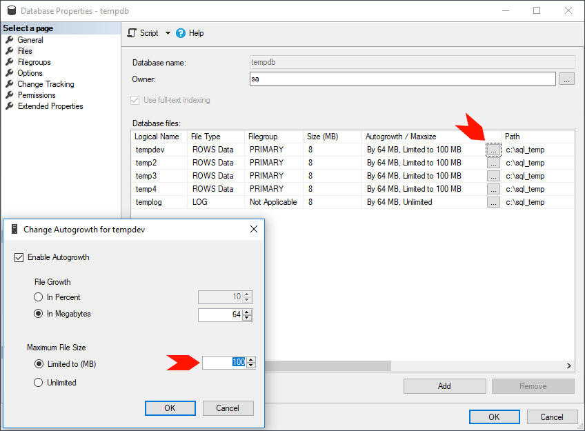 Set Max Database Size in SQL Server