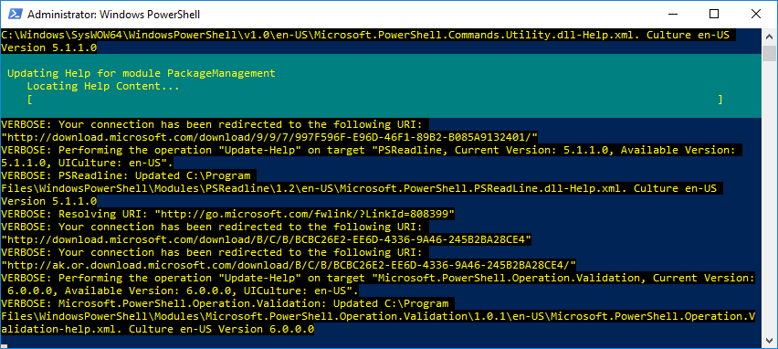 Update-Help PowerShell
