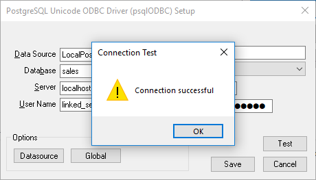 ODBC Test Connection