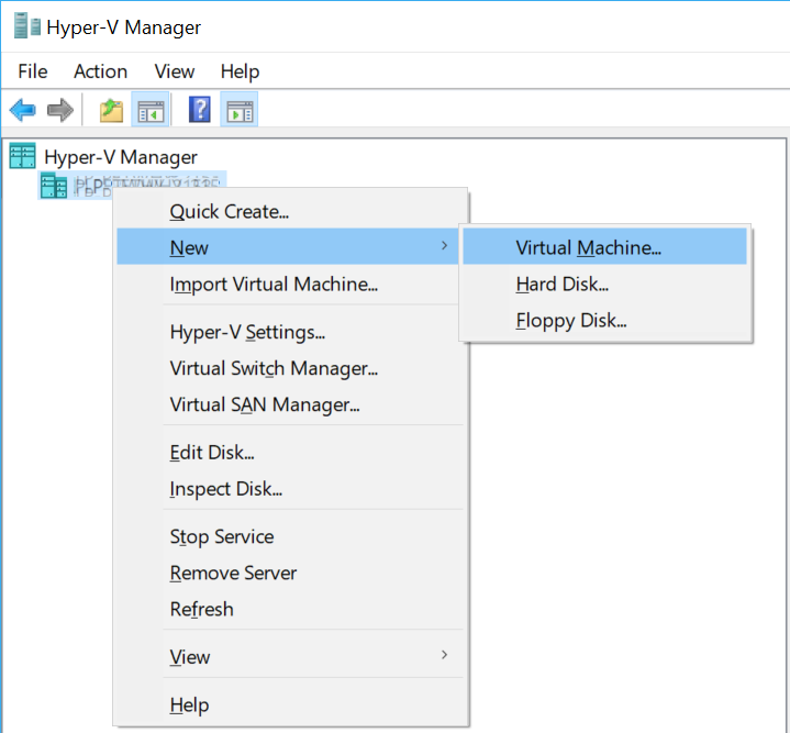 Hyper-V New Virtual Machine