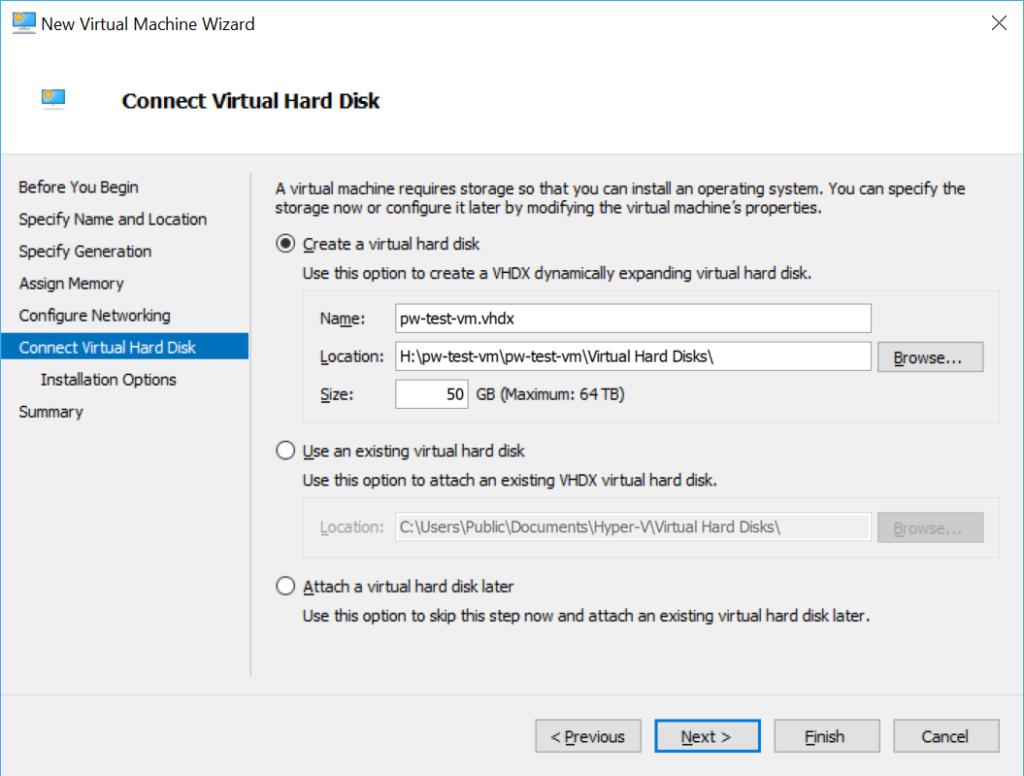 Hyper-V Virtual Machine Hard Disk