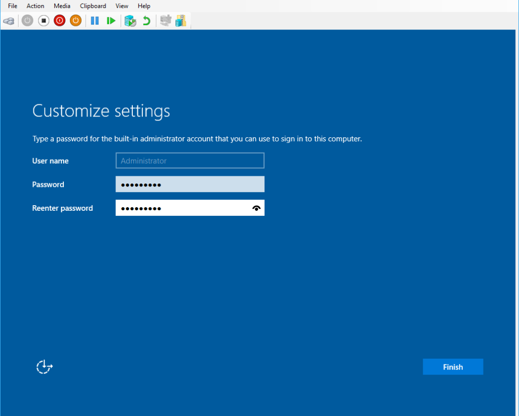 Windows Server 2016 Admin Password