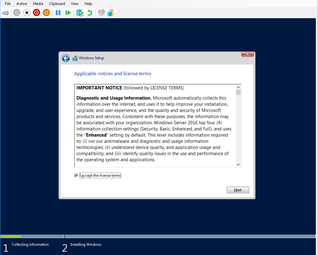 Windows Server 2016 License Agreement