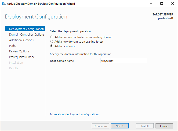 Active Directory Domain Services Config Wizard