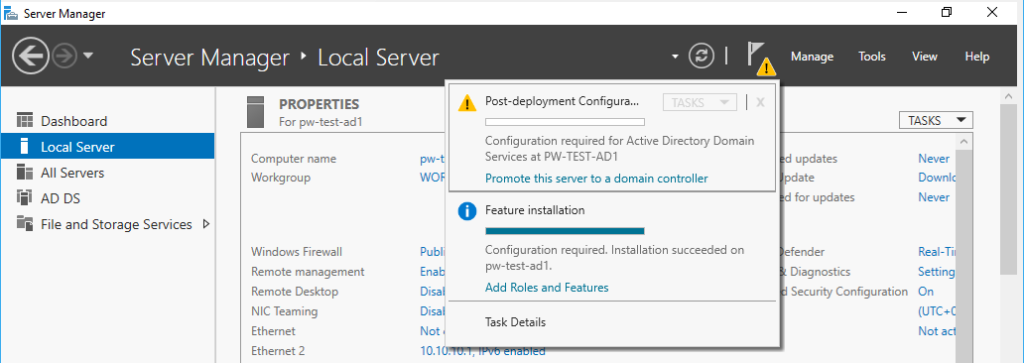 Active Directory Promote to DC