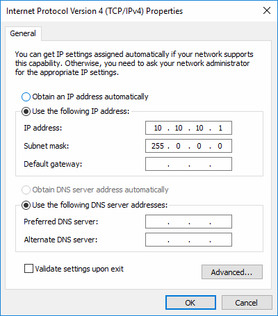 Windows Ethernet Adapter IPv4 Address