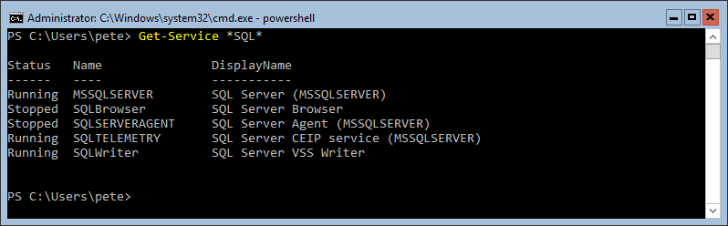 PowerShell Get-Service