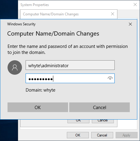 Domain Join Elevation Prompt