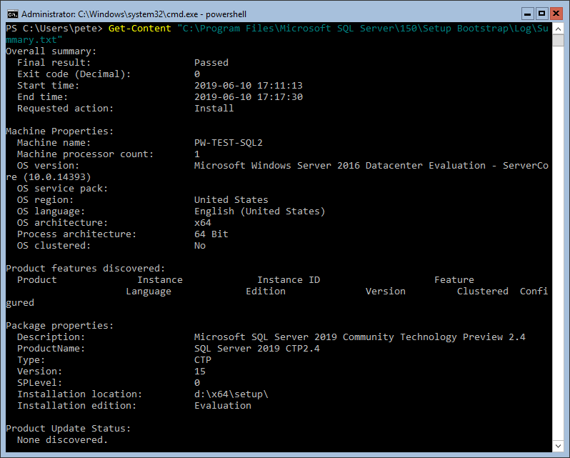 PowerShell Get-Content SQL Summary File