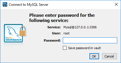 MySQL Workbench New Connection Password