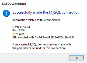 MySQL Workbench Connection Test