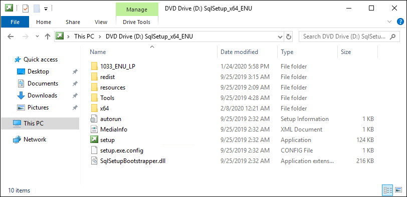 SQL Server Installation Files