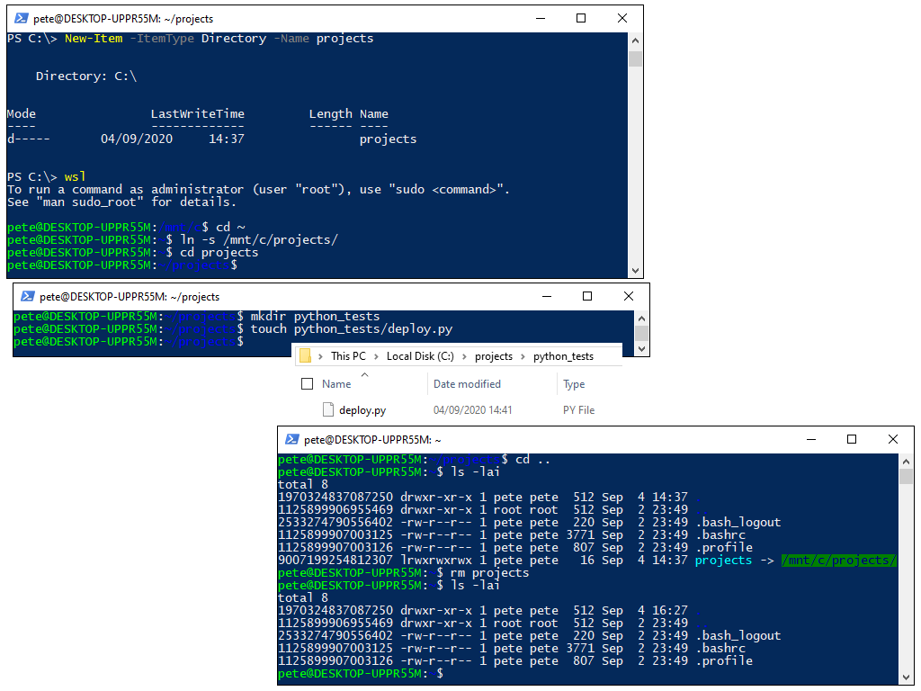Create a Link Between Local Windows Files and WSL
